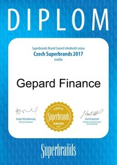 GEPARD FINANCE NA PALUBĚ ČESKÝH SUPER BRANDS 2017!